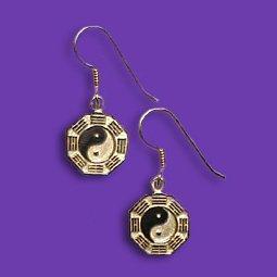 Bagua French wire earrings SS